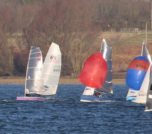 Mike sails H2 #102 in the Grafham Grand Prix, 2 January 2017.