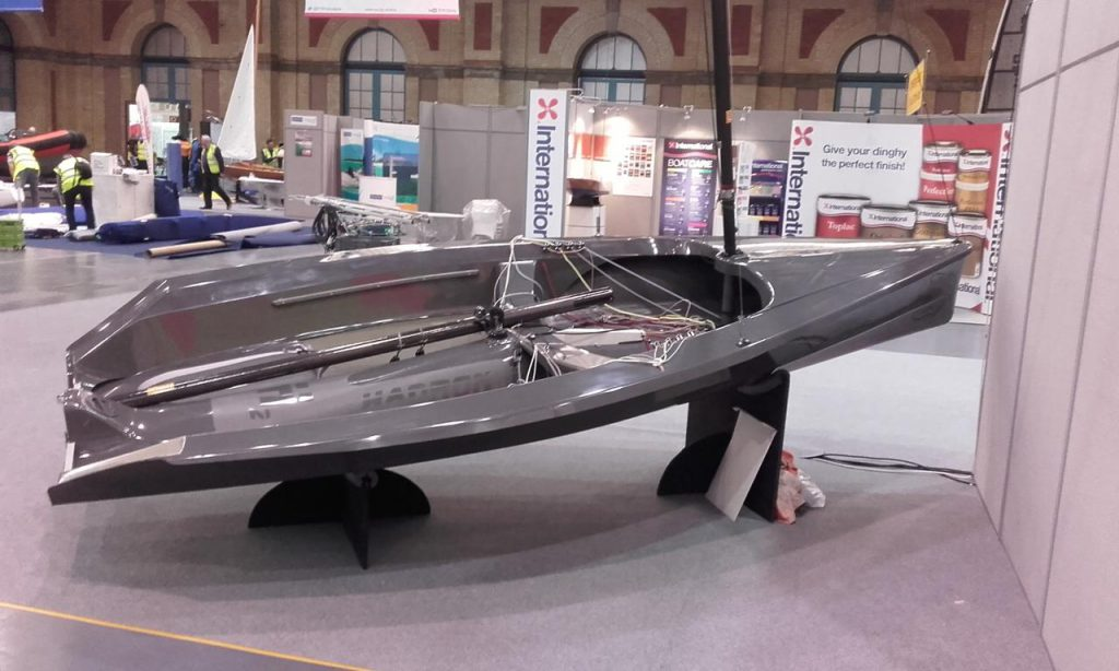 Paul Nurser's H2 is on display at the Dinghy Show