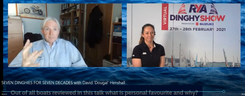 Dougal Henshall talks about the Hadron H2 at the RYA Dinghy Show